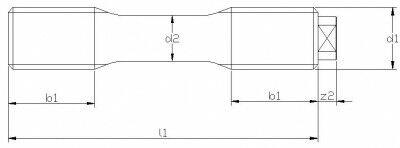 Schraubenbolzen DIN 2510 Form L